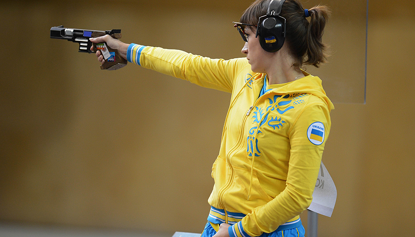 competes in the Women's 25m Pistol Shooting final on Day 5 of the London 2012 Olympic Games at The Royal Artillery Barracks on August 1, 2012 in London, England.